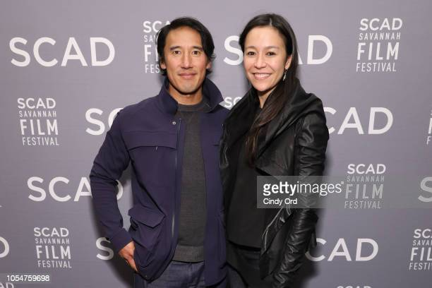 Jimmy Chin and Elizabeth Chai Vasarhelyi attend the Docs to Watch Roundtable during the 21st SCAD Savannah Film Festival on October 28 2018 in...