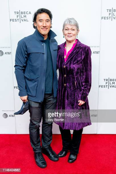 """Jimmy Chin and Tracy Edwards attend a screening of """"Maiden"""" during the 2019 Tribeca Film Festival at Village East Cinema on May 01, 2019 in New York..."""