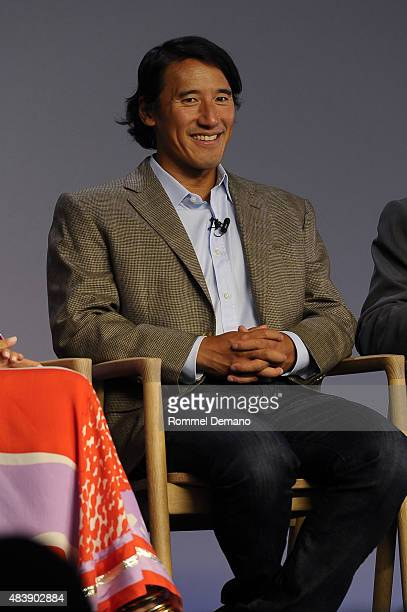 Jimmy Chin attend Meet The Filmmaker Jimmy Chin and Elizabeth Chai Vasarhelyi MERU at Apple Store Soho on August 13 2015 in New York City