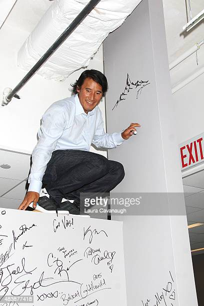 "Jimmy Chin attends AOL Build Presents: ""MERU""at AOL Studios In New York on August 13, 2015 in New York City."