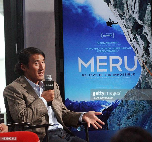 Jimmy Chin attends AOL Build Presents MERUat AOL Studios In New York on August 13 2015 in New York City