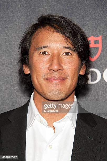 Jimmy Chin attends the Meru New York Premiere at MoMA Titus One on August 3 2015 in New York City