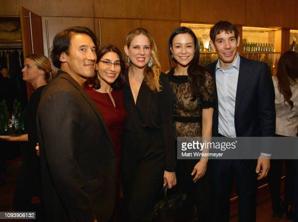 Jimmy Chin Carolyn Giardina Jennifer Laski Chai Vasarhelyi and Alex Honnold attend The Hollywood Reporter's 7th Annual Nominees Night presented by...