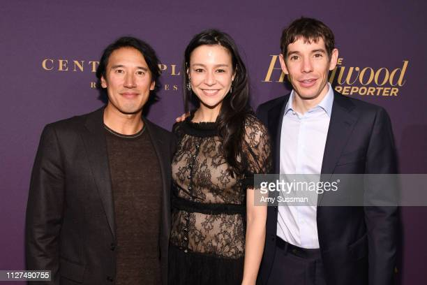 Jimmy Chin Chai Vasarhelyi and Alex Honnold attend The Hollywood Reporter 2019 Oscar Nominee Party at CUT on February 04 2019 in Beverly Hills...