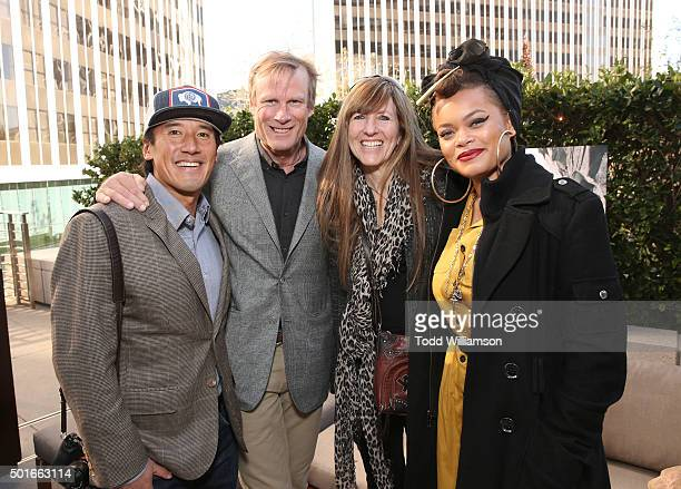 Jimmy Chin Conrad Anker Jennifer LoweAnker and Andrea Day attend a Celebration of MERU Luncheon With Jimmy Chin And Conrad Anker at Craft on December...