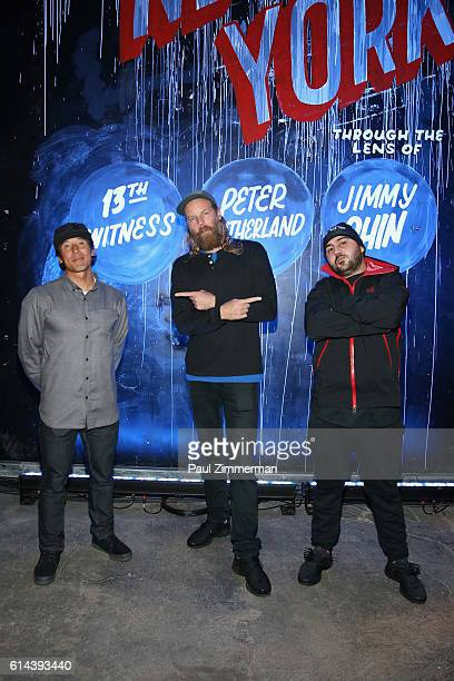Jimmy Chin Peter Sutherland and 13th Witness attend The North Face event celebrating the company's 50th anniversary and debuting its global brand...