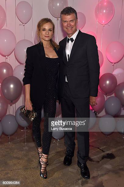 Jimmy Choo CEO Pierre Denis and Diane Kruger attend the Jimmy Choo 20th Anniversary Event during New York Fashion Week on September 8 2016 in New...