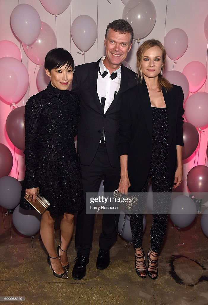 Jimmy Choo Creative Director Sandra Choi, Jimmy Choo CEO Pierre Denis, and Diane Kruger attend the Jimmy Choo 20th Anniversary Event during New York Fashion Week on September 8, 2016 in New York City.