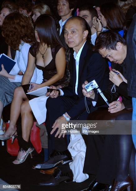 Jimmy Choo, in the audience for the show by designer John Rocha, during London Fashion Week at the BFC Tent, Natural History Museum, West Lawn,...