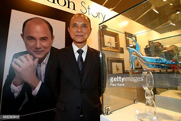 Jimmy Choo poses after officially opening The Story of Professor Jimmy Choo OBE at Claremont Quarter on August 7, 2014 in Perth, Australia.