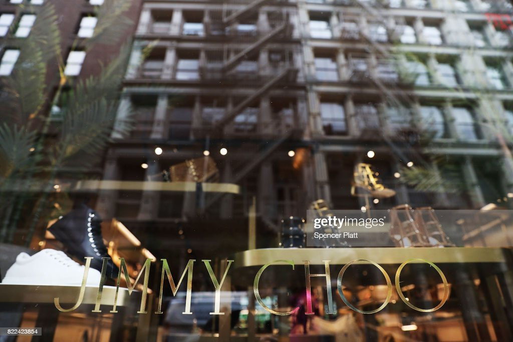 A Jimmy Choo store stands in lower Manhattan on July 25, 2017 in New York City. Michael Kors Holdings announced on Tuesday that it had agreed to buy the shoe company Jimmy Choo for 896 million pounds, or about $1.2 billion. As retail sales across the country continue to weaken, many companies are starting to search for new sources of growth, especially in more luxury brand markets.