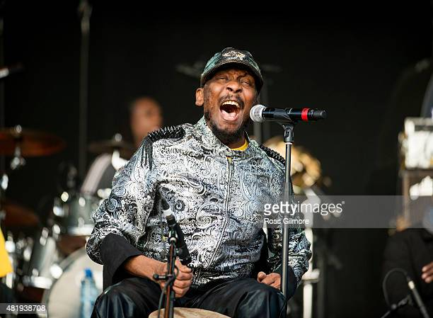 Jimmy Cliff performs at the Wickerman festival at Dundrennan on July 25 2015 in Dumfries Scotland