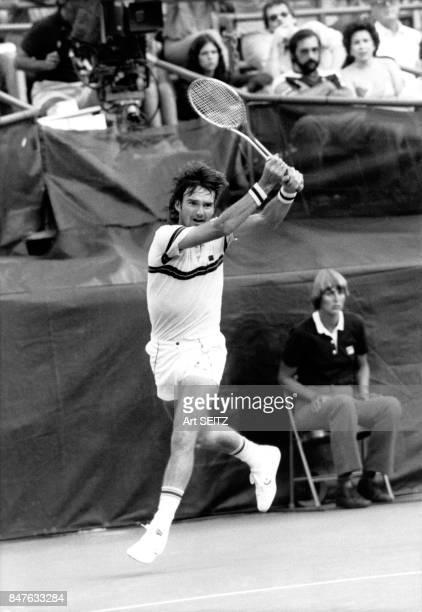 Jimmy Connors a gagne le tournoi de tennis de Flushing Meadows a l'age de 30 ans en 1982 NewYork EtatsUnis