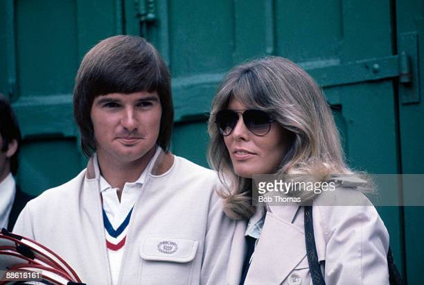 Jimmy Connors and girlfriend Marjorie Wallace of the USA during the Wimbledon Lawn Tennis Championships held at the All England Club in London...