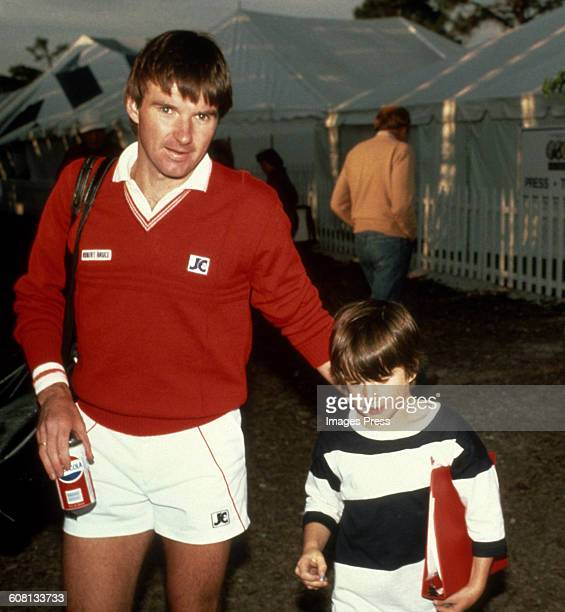 Jimmy Connors and son Brett circa 1986 in New York City