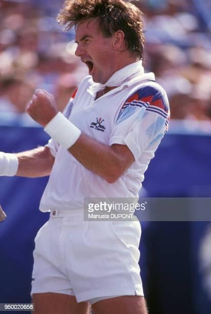 Jimmy Connors au tournoi de tennis de Flushing Meadows le 6 septembre 1991 à New York EtatsUnis