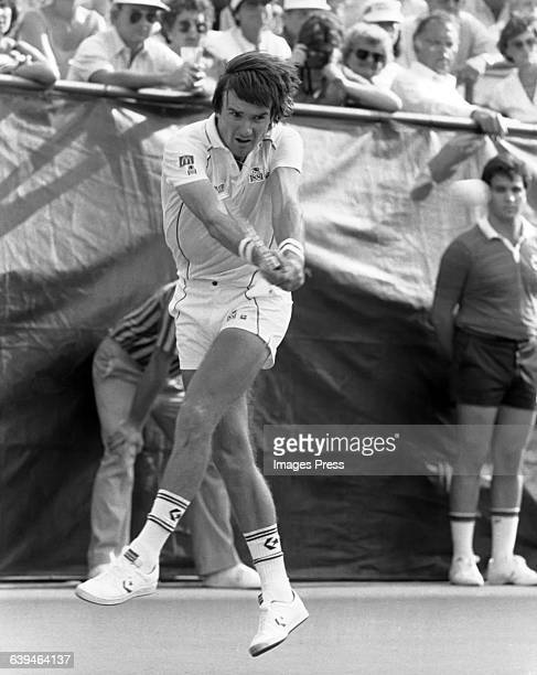 Jimmy Connors on court circa 1983 in Flushing Queens