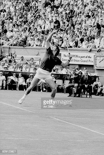 Jimmy Connors playing tennis circa 1970 New York
