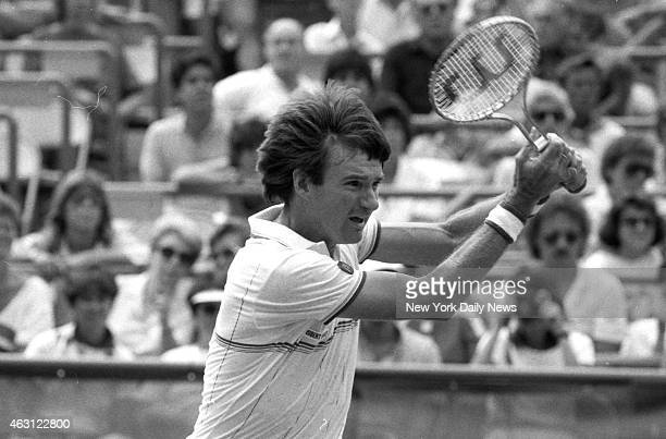 Jimmy Connors returns with vigor during 63 64 62 second round win over Hank Pfister at US Open Pat Carroll/NY Daily News via Getty Images