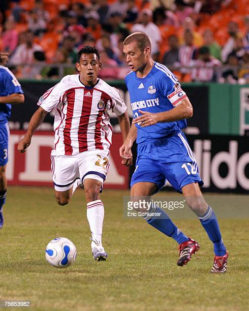 Jimmy Conrad of the Kansas City Wizards in action against Chivas USA at Arrowhead Stadium in Kansas City Missouri on October 7 2006 Kansas City won 2...