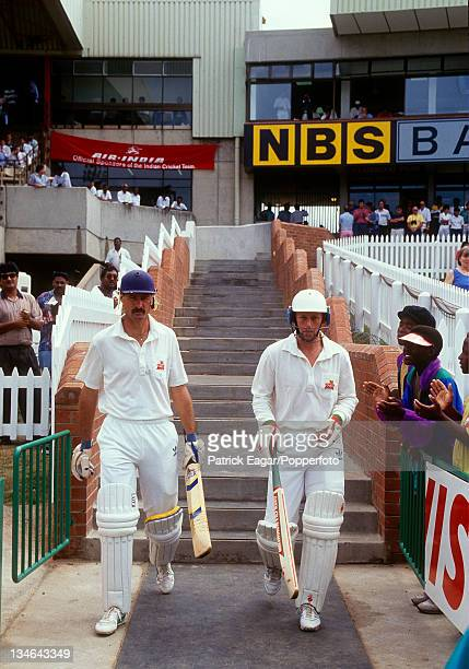 Jimmy Cook and Andrew Hudson open the batting for South Africa, South Africa v India, 1st Test, Durban, Nov 92.