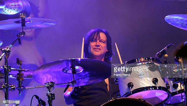 Jimmy Degrasso of Black Star Riders perform at Bournemouth O2 Academy at Hammersmith on March 18 2015 in London England