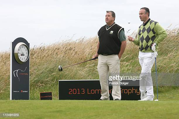 Jimmy Doughe and Mark O'Boyle from Heath Golf Club during the Lombard Trophy PGA National ProAm Championship Regional Final at Island Golf Club on...
