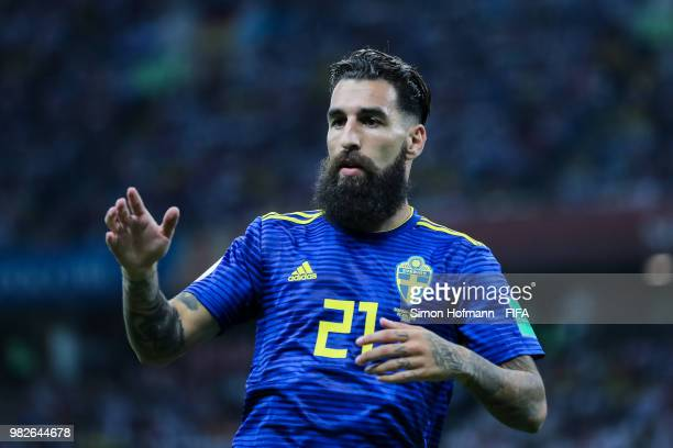 Jimmy Durmaz of Sweden looks on during the 2018 FIFA World Cup Russia group F match between Germany and Sweden at Fisht Stadium on June 23, 2018 in...