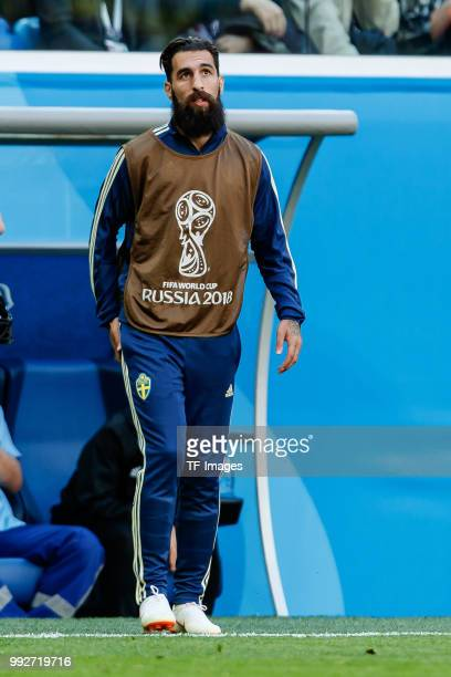 Jimmy Durmaz of Sweden looks on during the 2018 FIFA World Cup Russia Round of 16 match between Sweden and Switzerland at Saint Petersburg Stadium on...