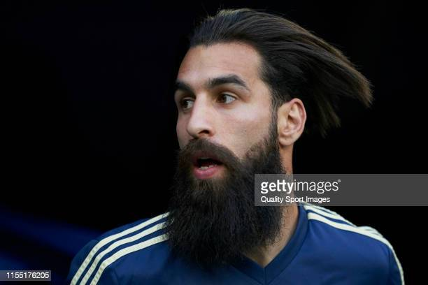 Jimmy Durmaz of Sweden looks on prior to the UEFA Euro 2020 qualifier match between Spain and Sweden at Bernabeu on June 10, 2019 in Madrid, Spain.