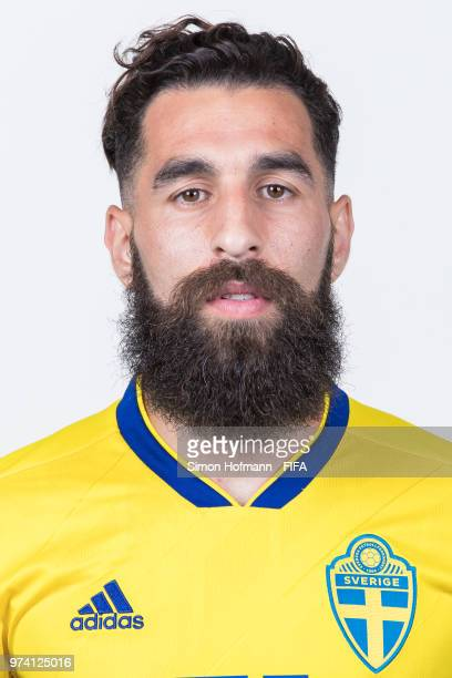 Jimmy Durmaz of Sweden poses during the official FIFA World Cup 2018 portrait session on June 13 2018 in Gelendzhik Russia