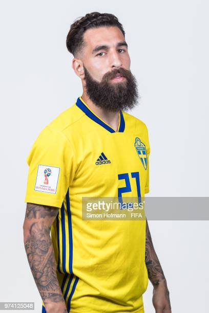 Jimmy Durmaz of Sweden poses during the official FIFA World Cup 2018 portrait session on June 13, 2018 in Gelendzhik, Russia.