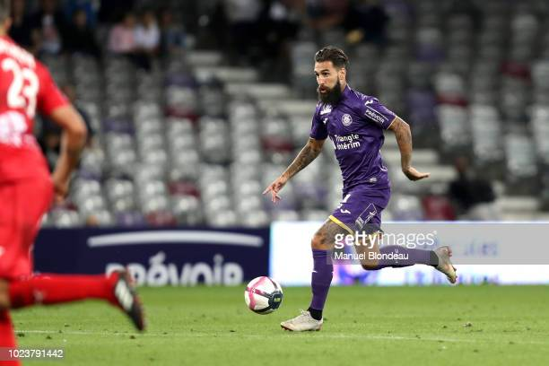 Jimmy Durmaz of Toulouse during Ligue 1 match between Toulouse and Nimes on August 25 2018 in Toulouse France