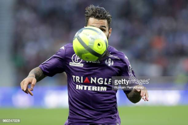 Jimmy Durmaz of Toulouse in action during the Ligue 1 match between Toulouse and EA Guingamp at Stadium Municipal on May 19 2018 in Toulouse