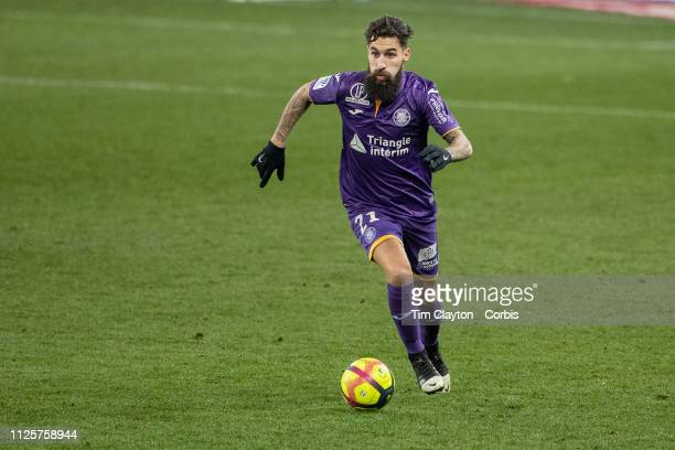 January 27: Jimmy Durmaz of Toulouse in action during the Toulouse FC V Angers, French Ligue 1 regular season match at the Stadium Municipal de...