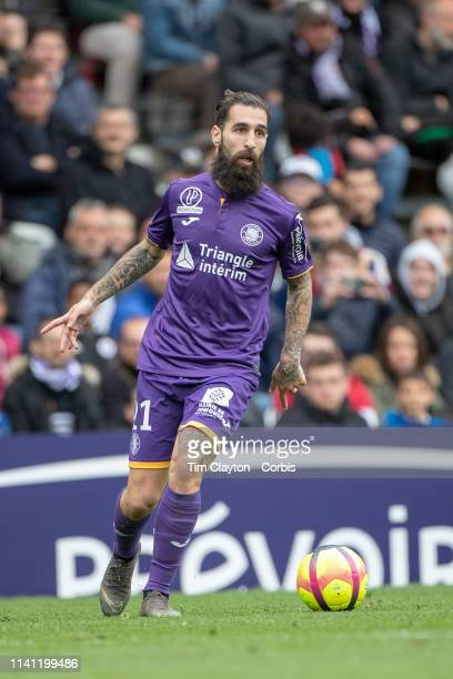 April 7: Jimmy Durmaz of Toulouse in action during the Toulouse FC V FC Nantes, French Ligue 1 regular season match at the Stadium Municipal de...