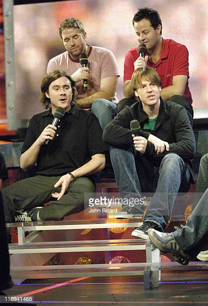 Jimmy Eat World during Ice Cube and Jimmy Eat World Visit Fuse's 'Daily Download' April 18 2005 at Fuse Studios in New York City New York United...