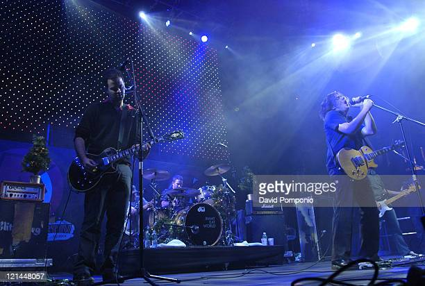 Jimmy Eat World during KRock's Claus Fest IV Decenber 3 2004 at Continental Airline's Arena in East Rutherford New Jersey United States