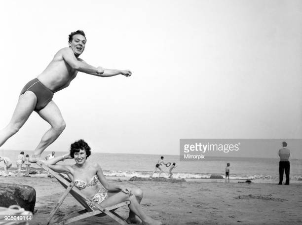 Jimmy Elliott and his girlfriend Marion Sloan at Whitley Bay Tyne and Wear 14th September 1960