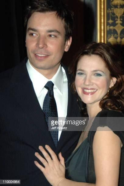 Jimmy Fallon and Drew Barrymore during ShoWest 2005 20th Century Fox Luncheon at Paris Hotel in Las Vegas Nevada United States