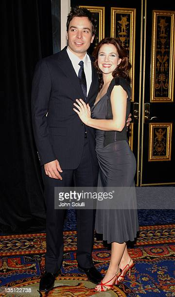 Jimmy Fallon and Drew Barrymore during ShoWest 2005 20th Century Fox Luncheon at Pairs Hotel in Las Vegas Nevada United States