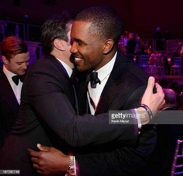 Jimmy Fallon and Frank Ocean attend TIME 100 Gala TIME'S 100 Most Influential People In The World at Jazz at Lincoln Center on April 23 2013 in New...