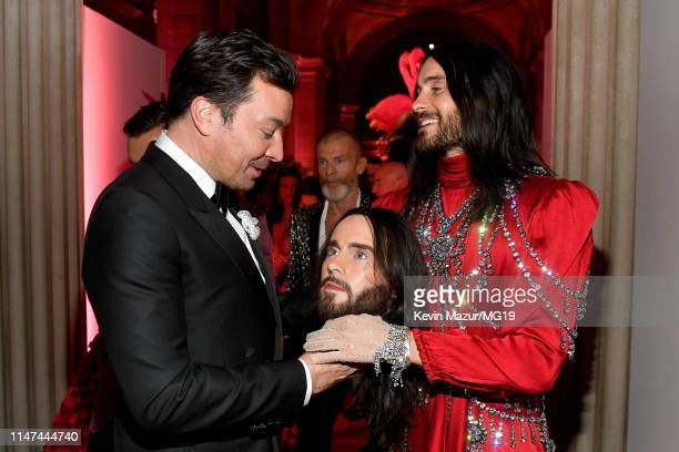 Jimmy Fallon and Jared Leto attend The 2019 Met Gala Celebrating Camp Notes on Fashion at Metropolitan Museum of Art on May 06 2019 in New York City