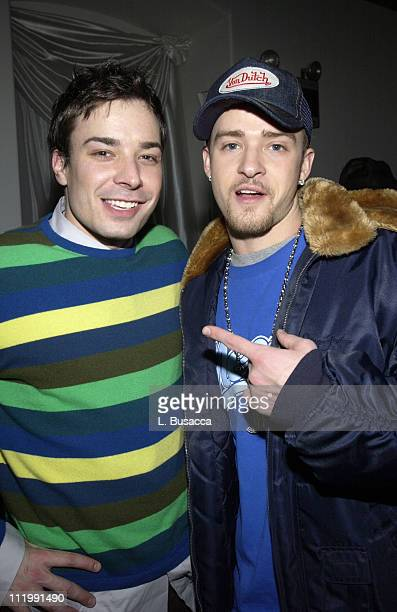 Jimmy Fallon and Justin Timberlake during The 45th Annual GRAMMY Awards BMG AfterParty Inside at Gotham Hall in New York City New York United States