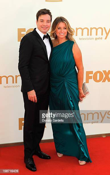 Jimmy Fallon and Nancy Juvonen attend the 63rd Annual Primetime Emmy Awards held at Nokia Theatre LA LIVE on September 18 2011 in Los Angeles...