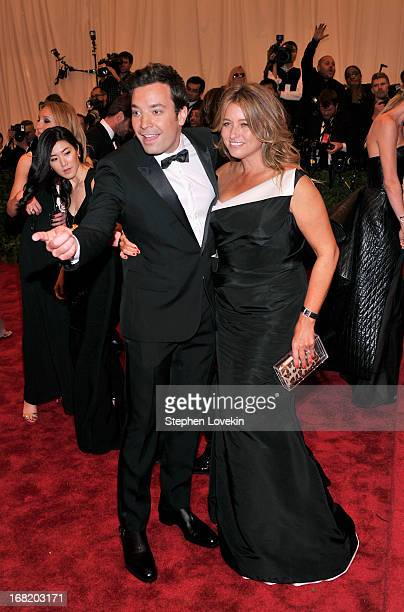 Jimmy Fallon and Nancy Juvonen attend the Costume Institute Gala for the PUNK Chaos to Couture exhibition at the Metropolitan Museum of Art on May 6...