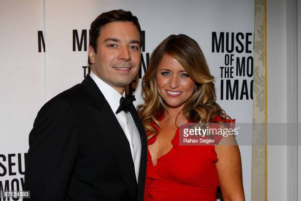 Jimmy Fallon and Nancy Juvonen attend the Museum of the Moving Image's honoring of Lorne Michaels and Stanley S Hubbard at the St Regis Hotel on May...