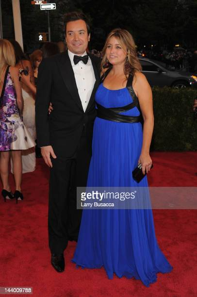Jimmy Fallon and Nancy Juvonen attend the Schiaparelli And Prada Impossible Conversations Costume Institute Gala at the Metropolitan Museum of Art on...