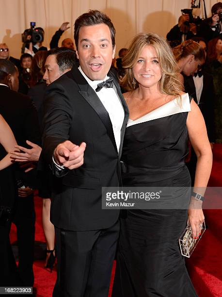 Jimmy Fallon and Nancy Juvonen attends the Costume Institute Gala for the PUNK Chaos to Couture exhibition at the Metropolitan Museum of Art on May 6...