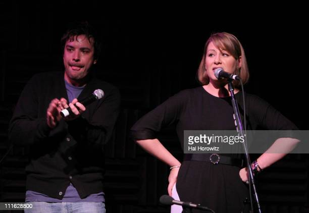 Jimmy Fallon and Rachel Fuller during Pete Townshend of The Who and Rachel Fuller Hold Attic Jam Show at Joe's Pub February 20 2007 at Joe's Pub in...